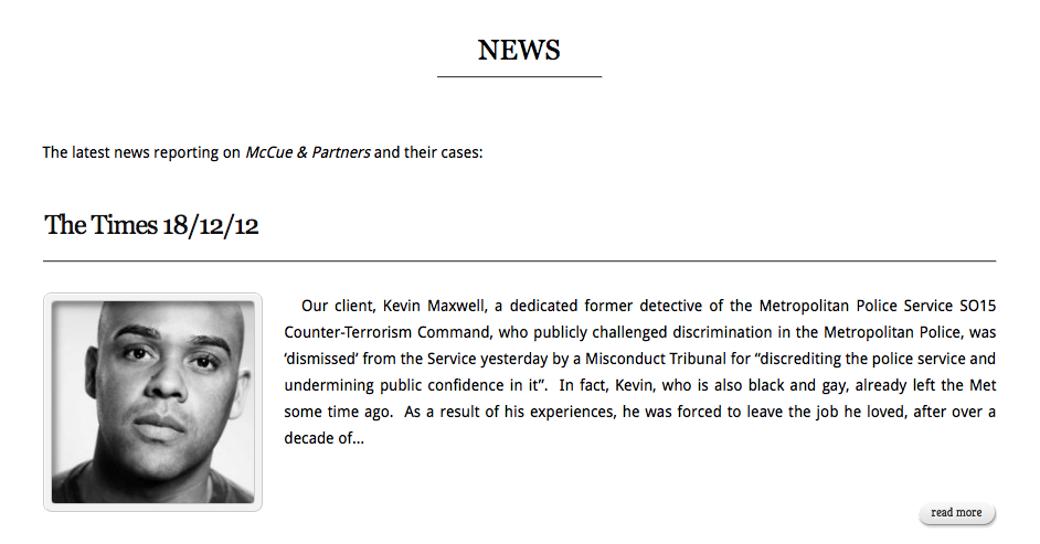 McCue Law Latest News