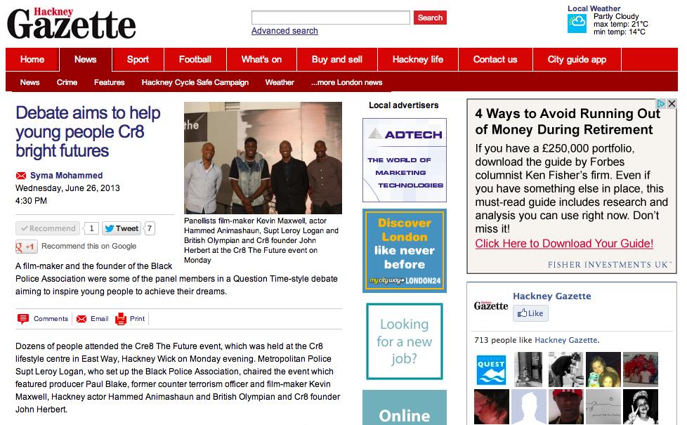 Hackney Gazette Cre8
