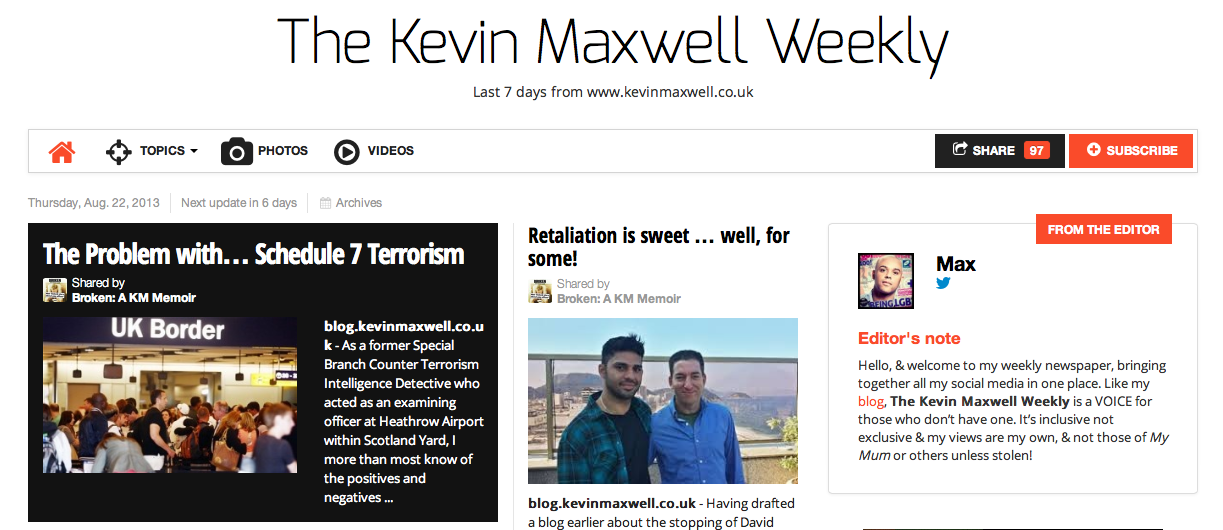 The Kevin Maxwell Weekly