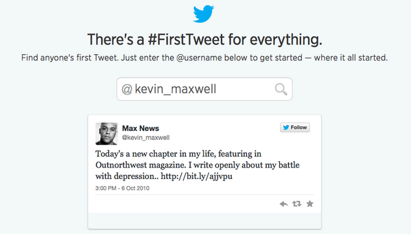 My #FirstTweet